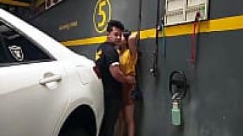 ไซร้คอ แอบเลียหี เย็ดในลานจอดรถ เย็ดในคาร์แคร์ เย็ดสาวพม่า